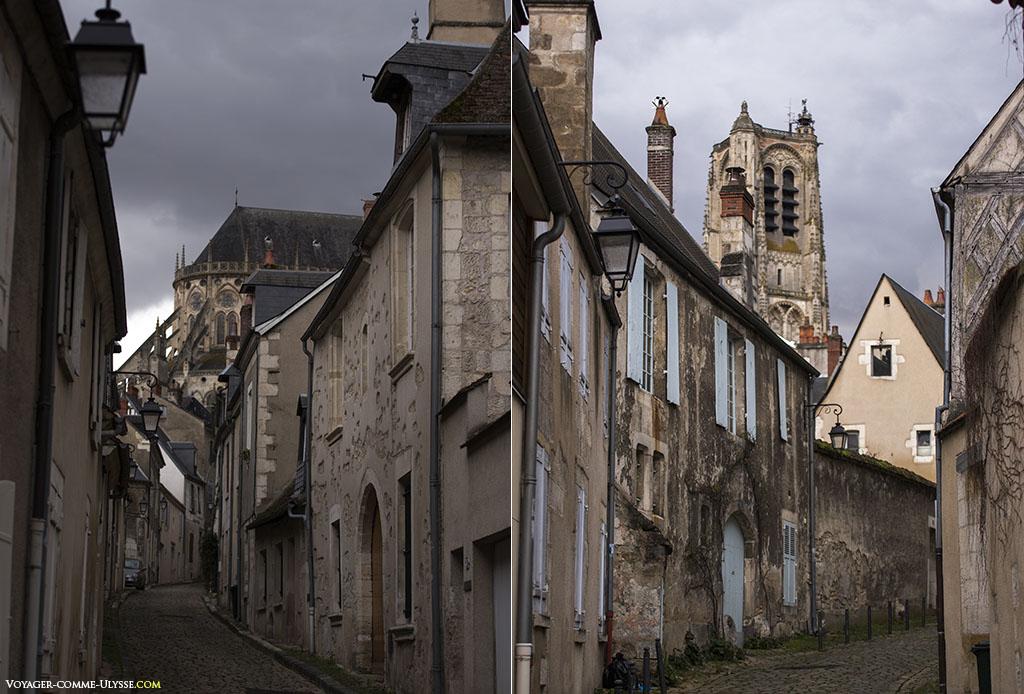Deux vues sur la cathédrale Saint-Etienne.