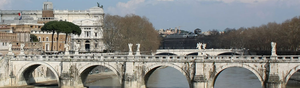 Photos du Tibre et de ses ponts, fleuve de Rome