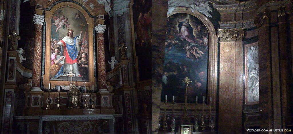 Peintures et tableaux dans l'église
