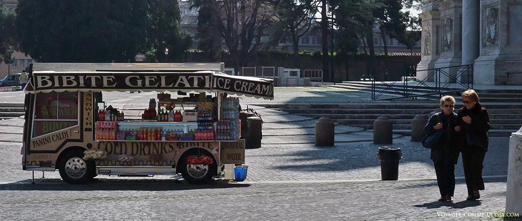 Bibite, ou boissons. C'est donc une roulotte qui vend à boire.