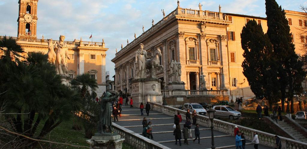 La place du Capitole - Rome