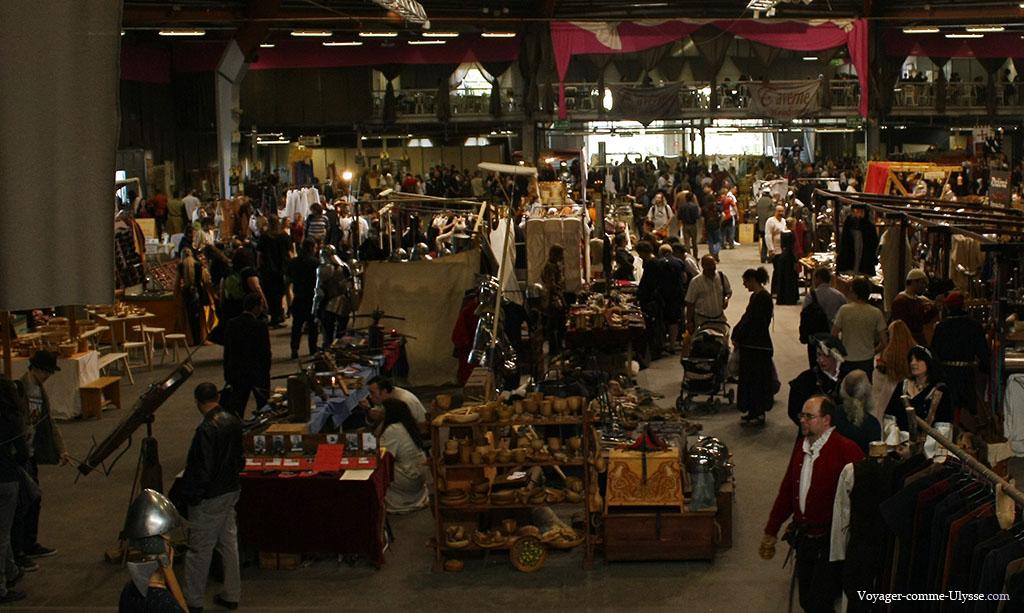 Une partie de la Halle Saint Martin, occupée par le marché