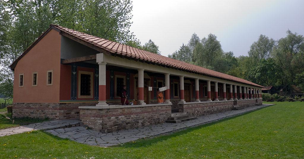 Ce type de villa romaine est commun dans cette région de l'Empire