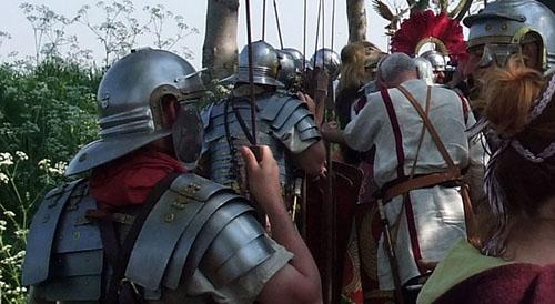 Les armures sont le plus proche possible des anciennes armures romaines