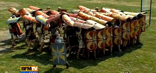La célèbre Tortue, une formation permettant d'approcher des murailles