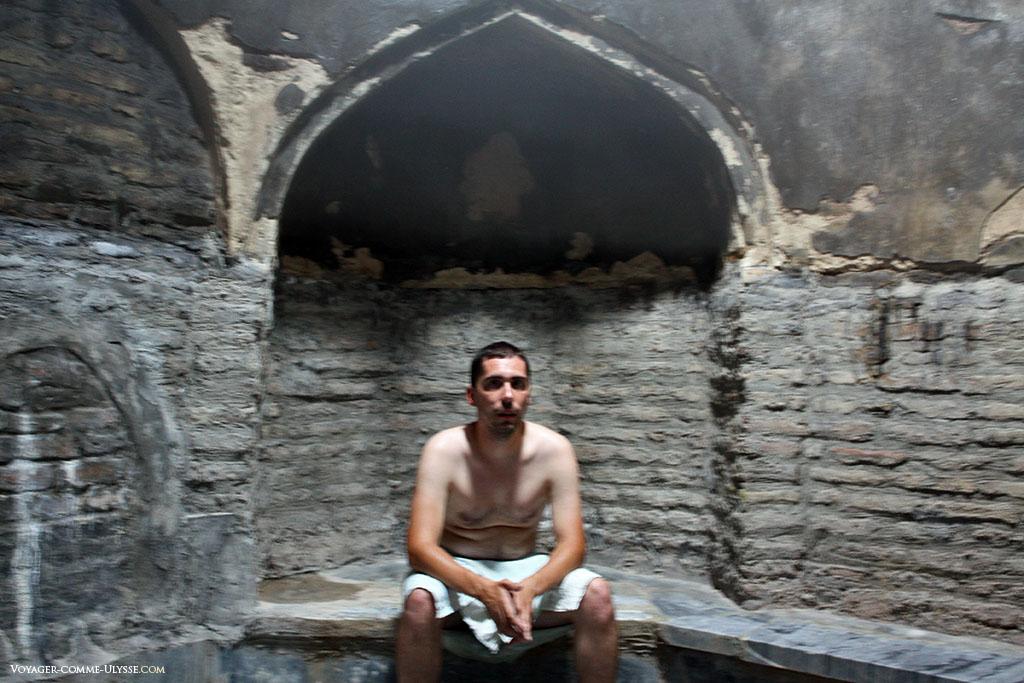 Temps d'attente dans le sauna.