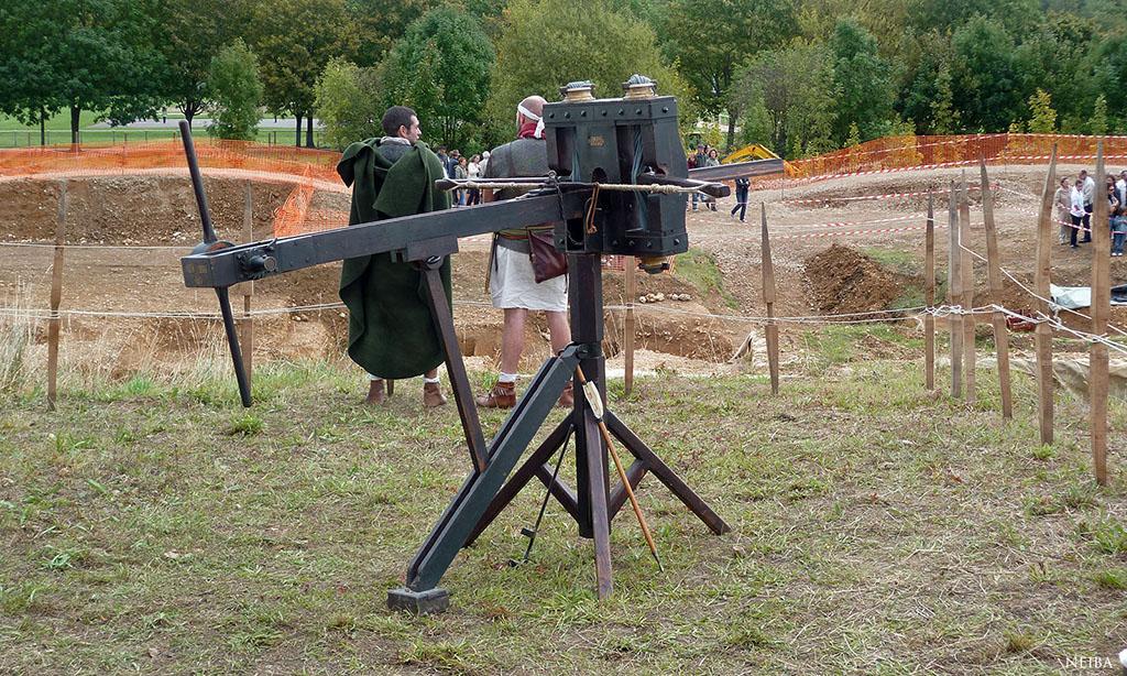 Un scorpion, une pièce d'artillerie de l'armée romaine