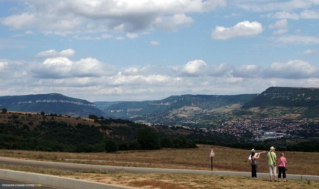 Point de vue sur la région de l'aire de repos