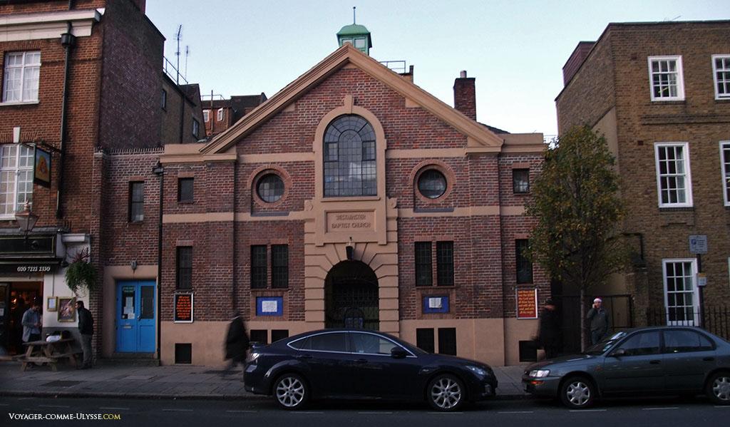 Westminster baptist church, une petite église de Westminster.