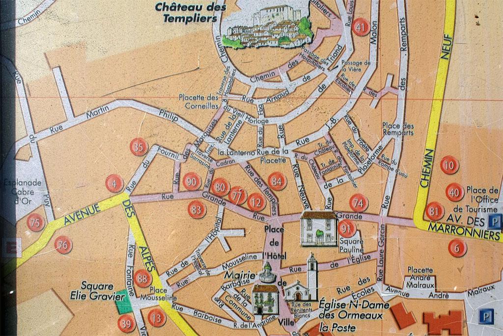 Carte municipale du centre de Gréoux-les-Bains