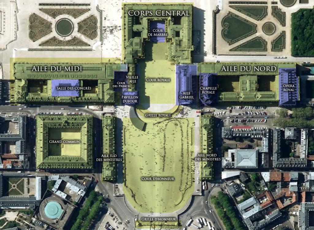 Mapa do Palácio de Versalhes