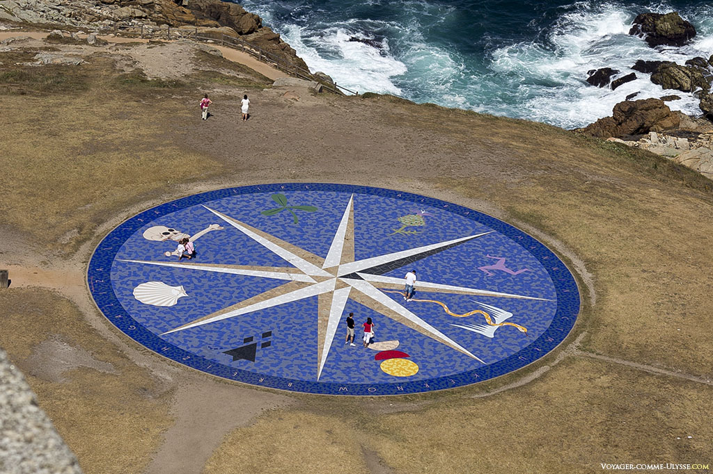 The compass represents the various Celtic countries.