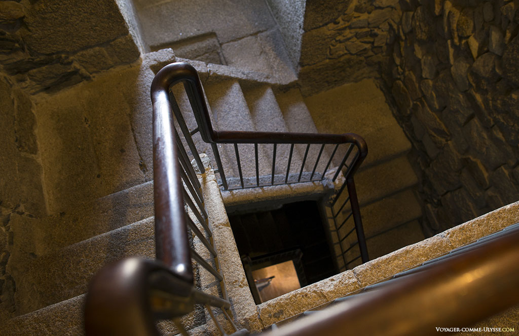 interior staircase of the Tower of Hercules.