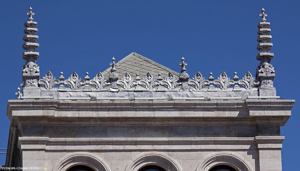 Détail d'une des tours de l'Hôtel-de-Ville de Valladolid.