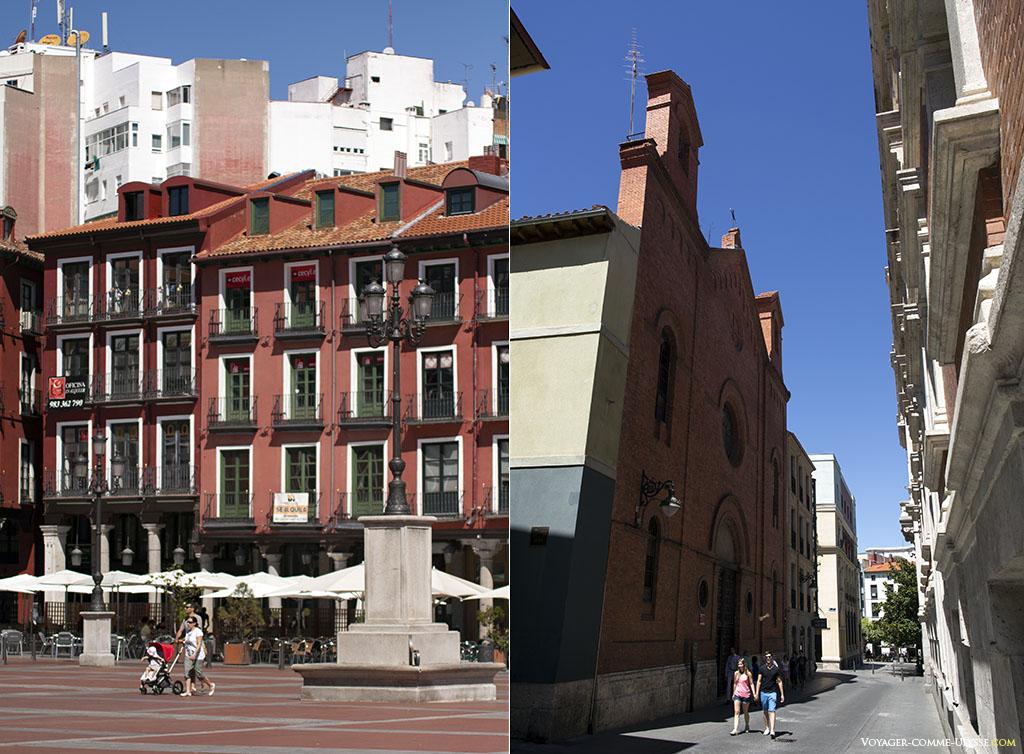 A droite, la calle Jesus, une rue qui part de la Plaza Mayor, avec l'église penitencial de Nuestro Padre Jesús Nazareno