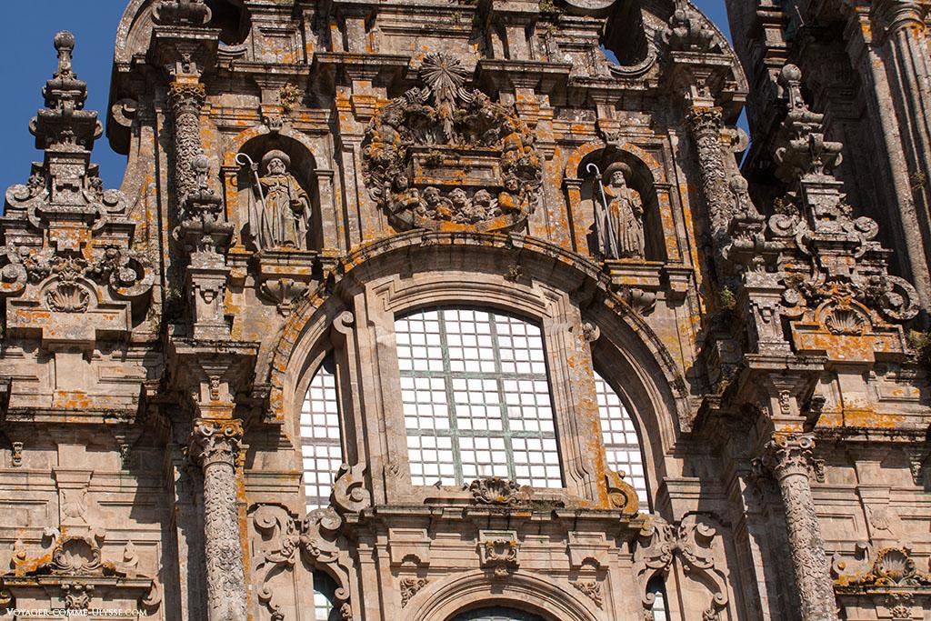 Photo des vitraux de l'Obradoiro