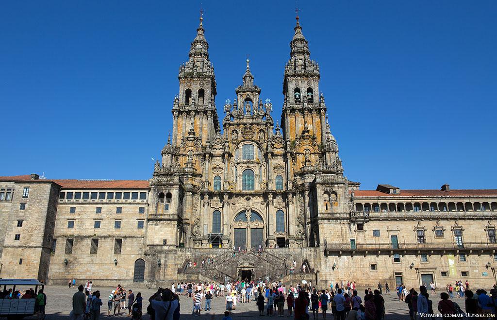 photo de la façade de l'Obradoiro.