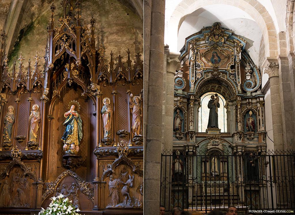 À esquerda, a Capela de Nossa Senhora a Branca, ou de Los España. À direita, a Capela de Santo António.