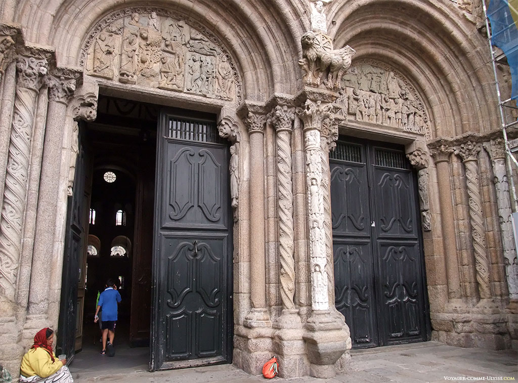 Photo des portes de la façade des Praterias
