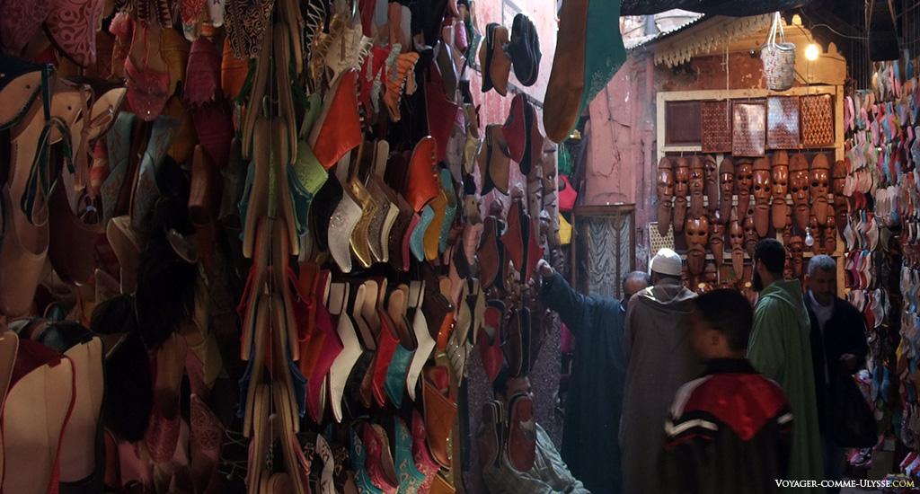La babouche, l'icône de l'artisanat de Marrakech.
