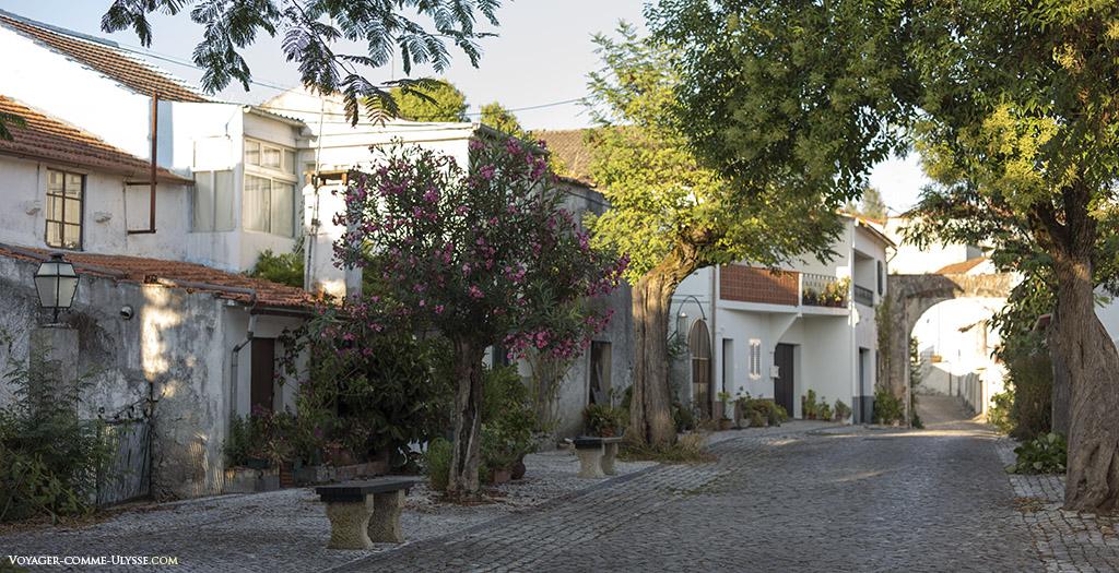 Le petit centre historique, situé entre les anciens portails, au calme.