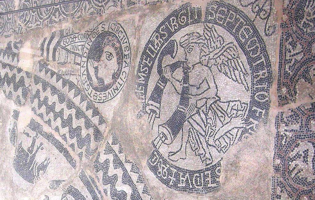 Détail de la mosaïque de l'église de Saint Sauveur.