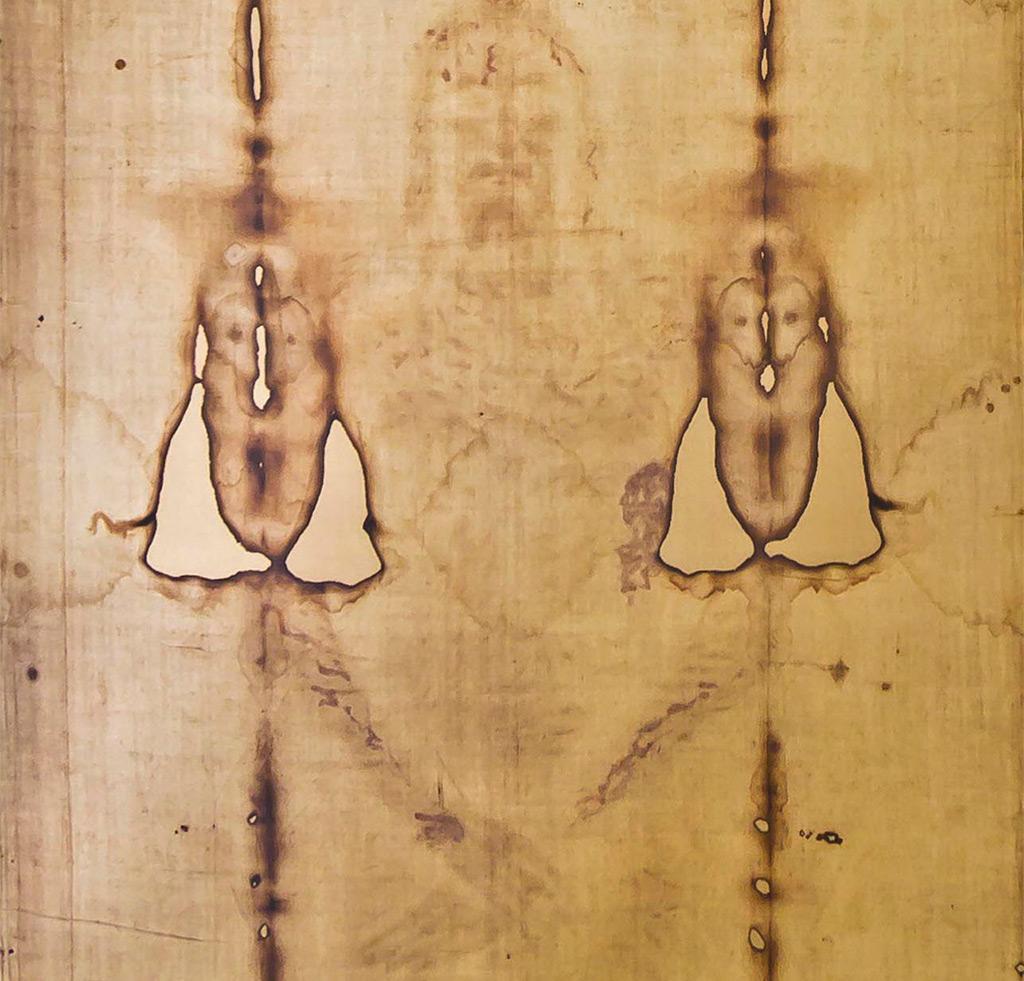 Saint Suaire, détail du Christ.