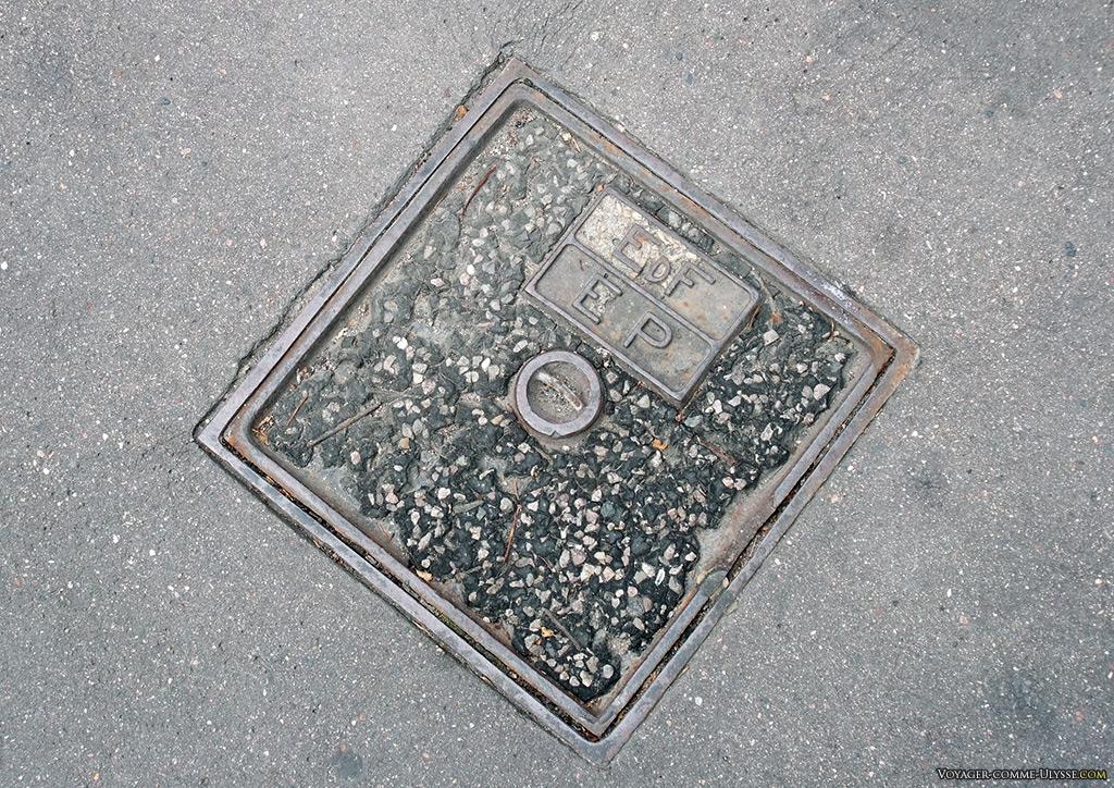 Une plaque d'EdF