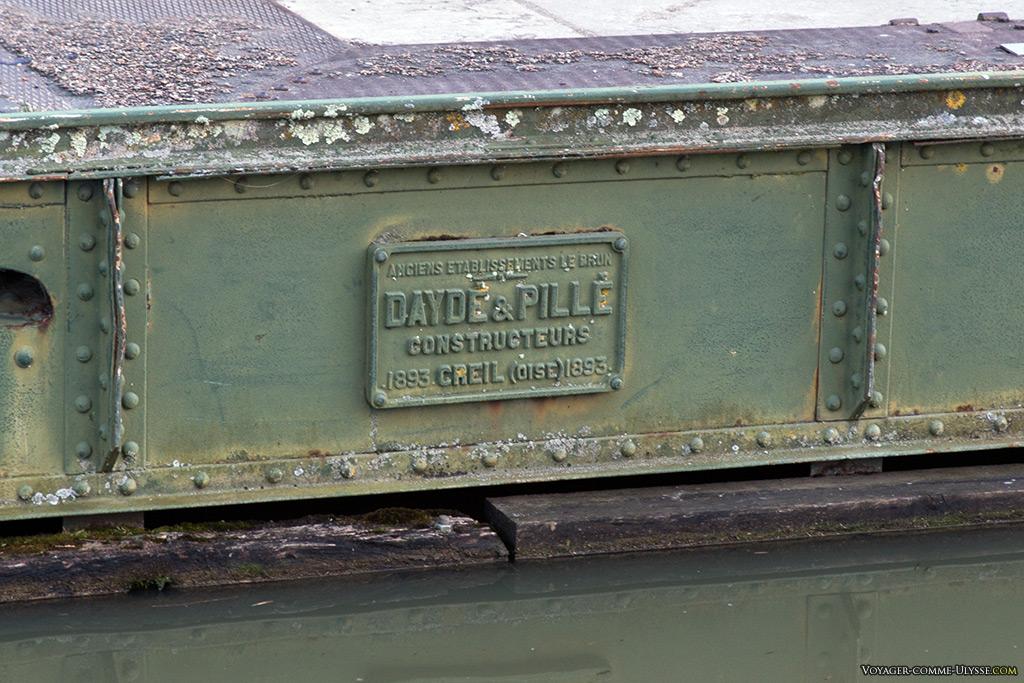 La marque en acier du constructeur : Daydé & Pillé