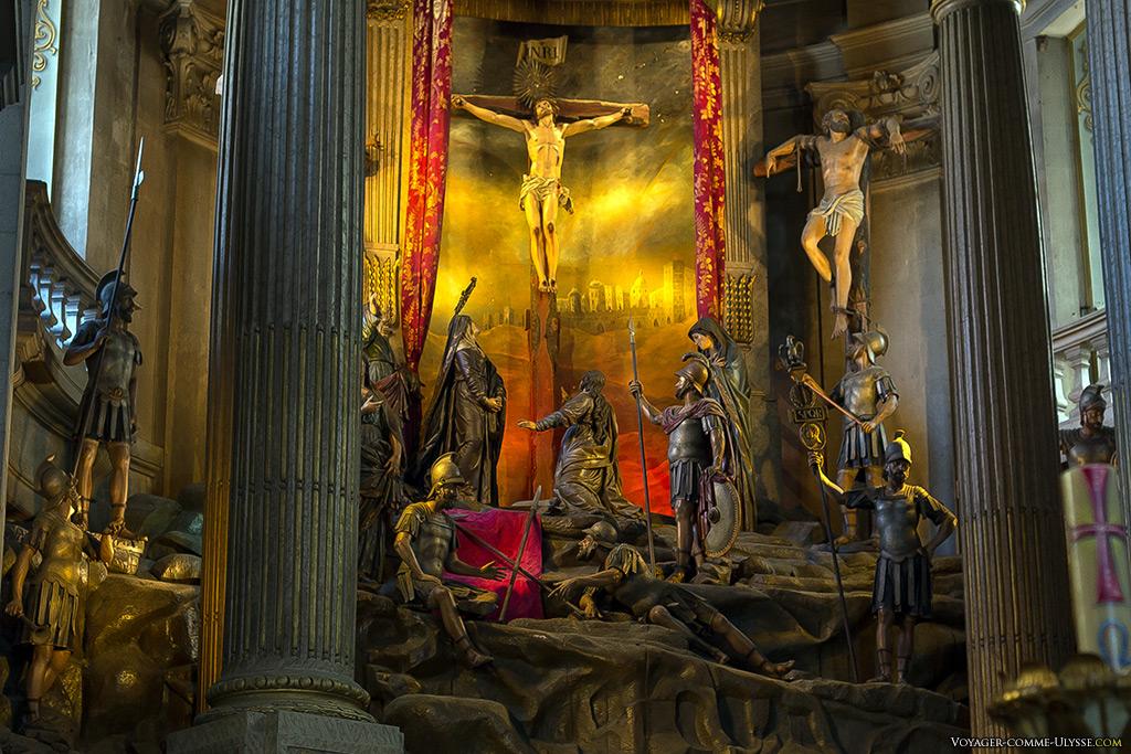 Calvaire du maître-autel, sculpture de Monteiro da Rocha.