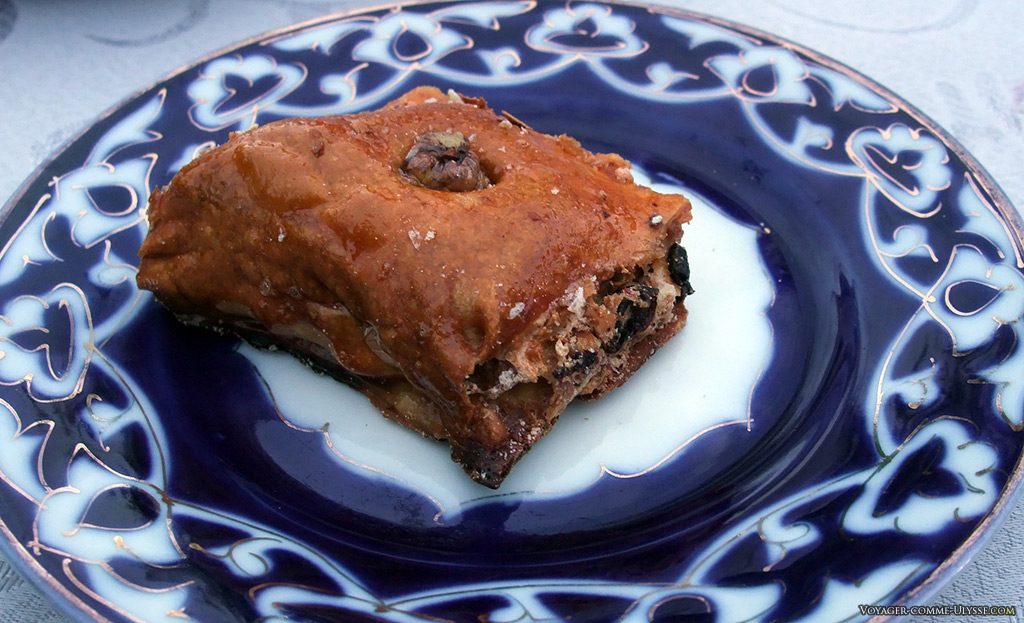 Baklava ouzbèk, une spécialité commune du monde Turc.