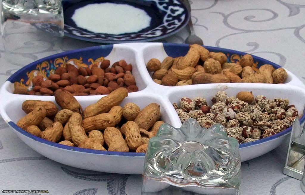 Les cacahuètes sont populaires.