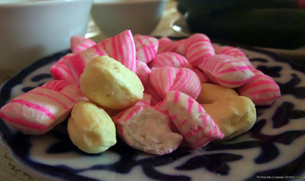 Des petits bonbons croquants.