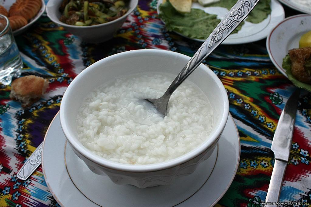 Le bol de riz blanc, idéal pour les problèmes de digestion.