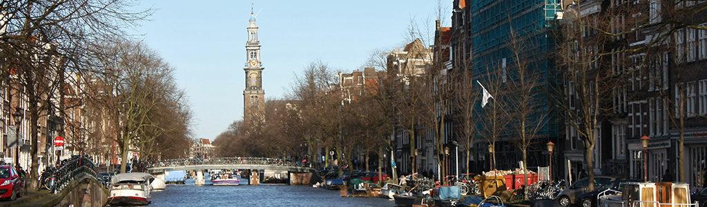 Bateaux d'Amsterdam : vue sur le Westerkerk