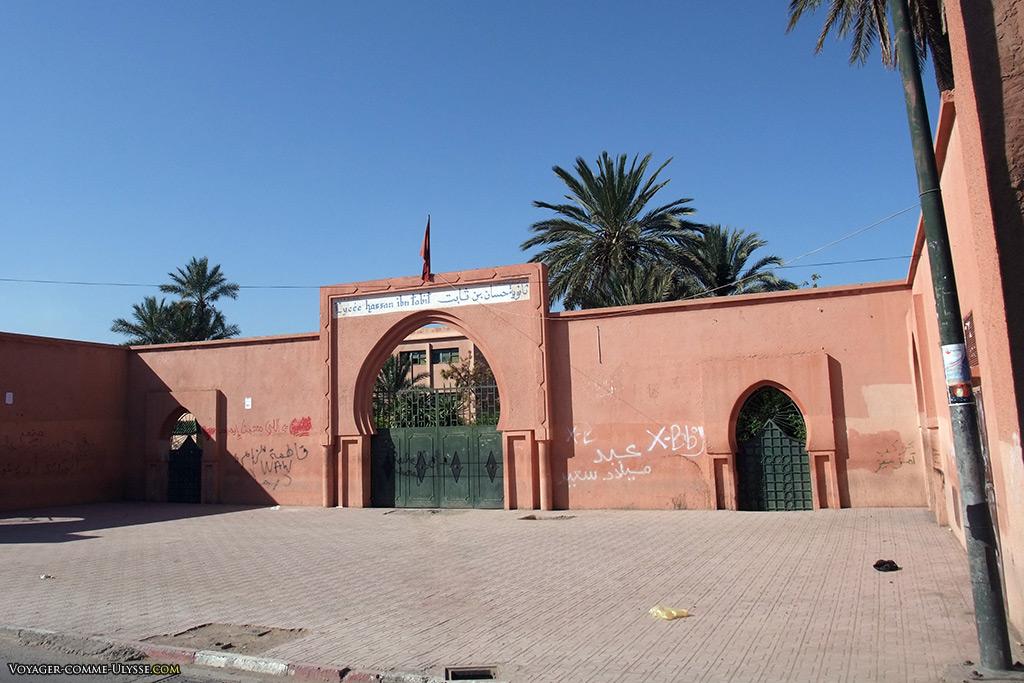 Lycée Hassan Ibn Tabit, le premier poète musulman.