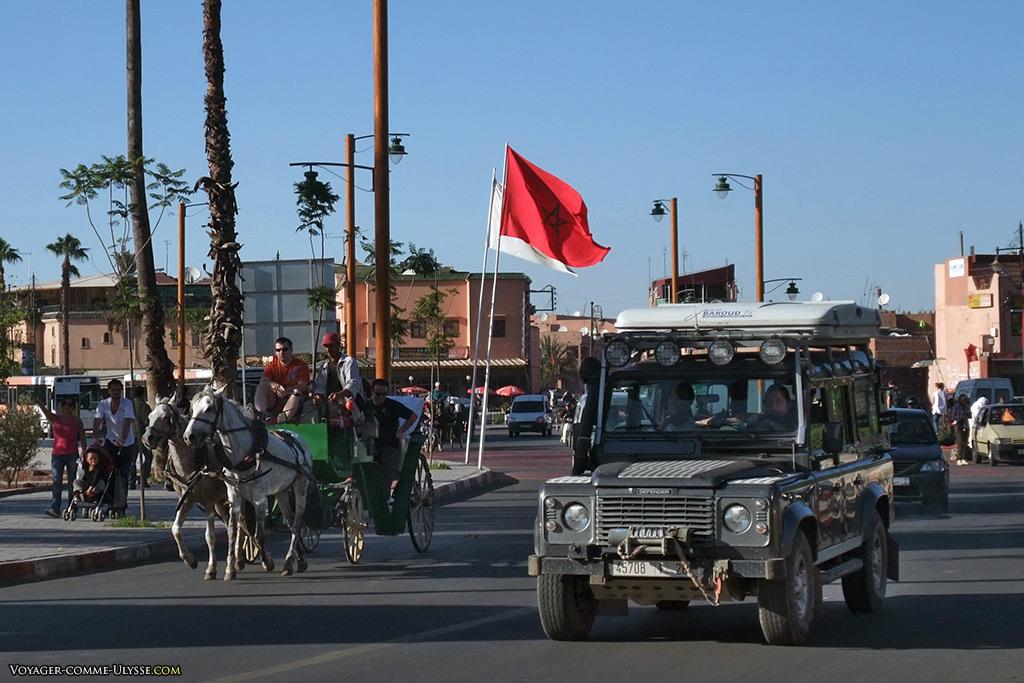 Le 4x4, voiture obligatoire pour aller dans le désert tout proche.