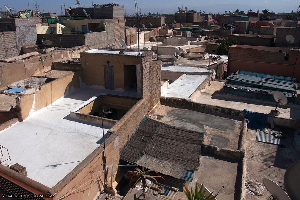 On doit pouvoir traverser toute la ville juste en sautant de toit en toit, de terrasse en terrasse...