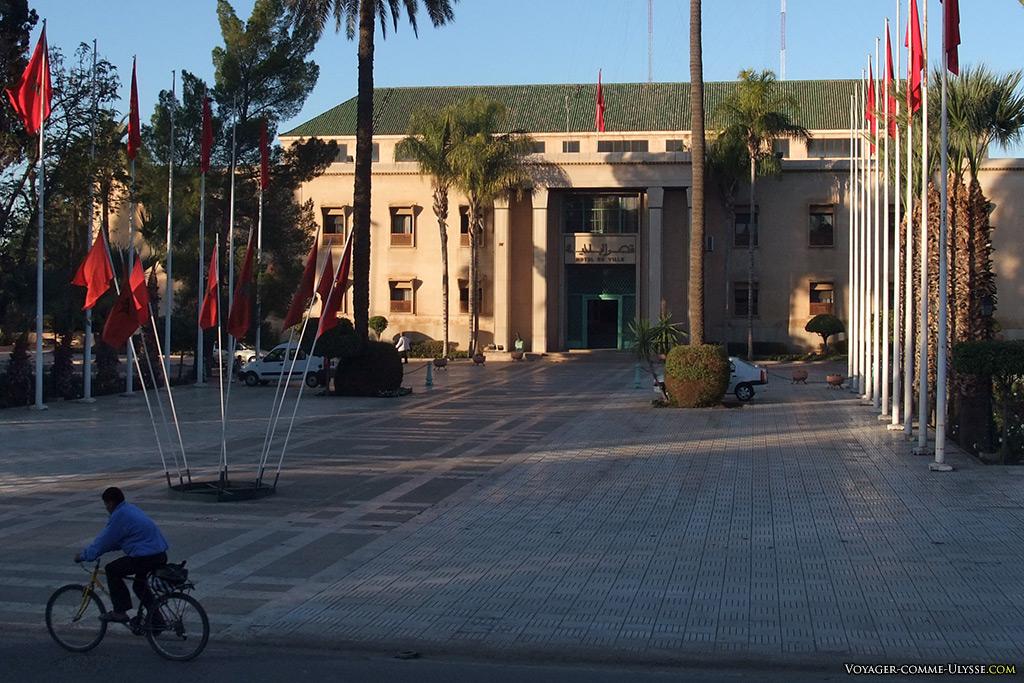 L'hôtel de ville de Marrakech