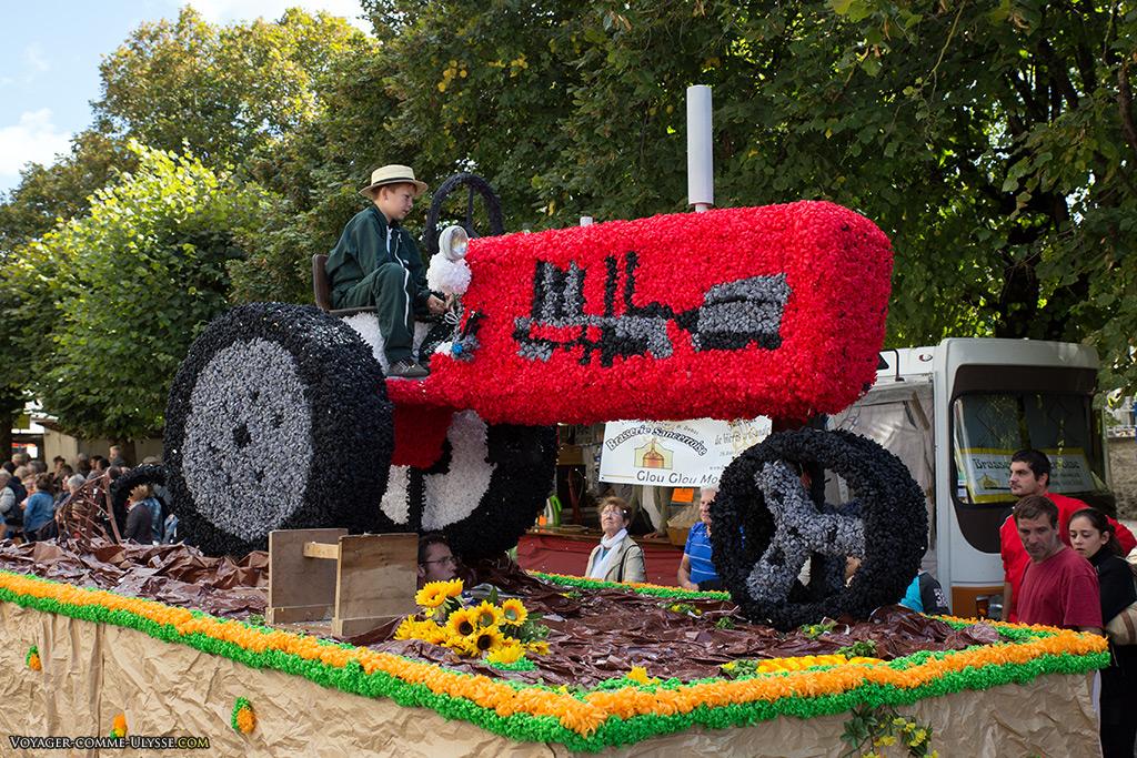 Le tracteur de fleurs