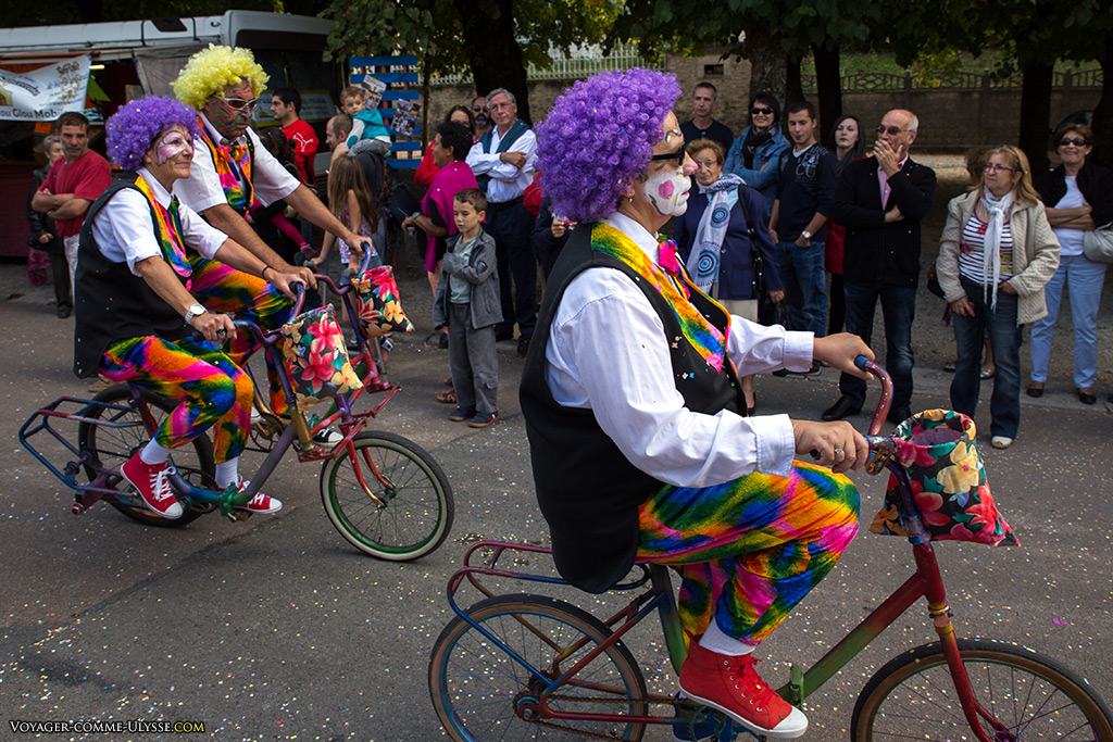 Avec les vélos humoristiques, l'animation était au rendez-vous