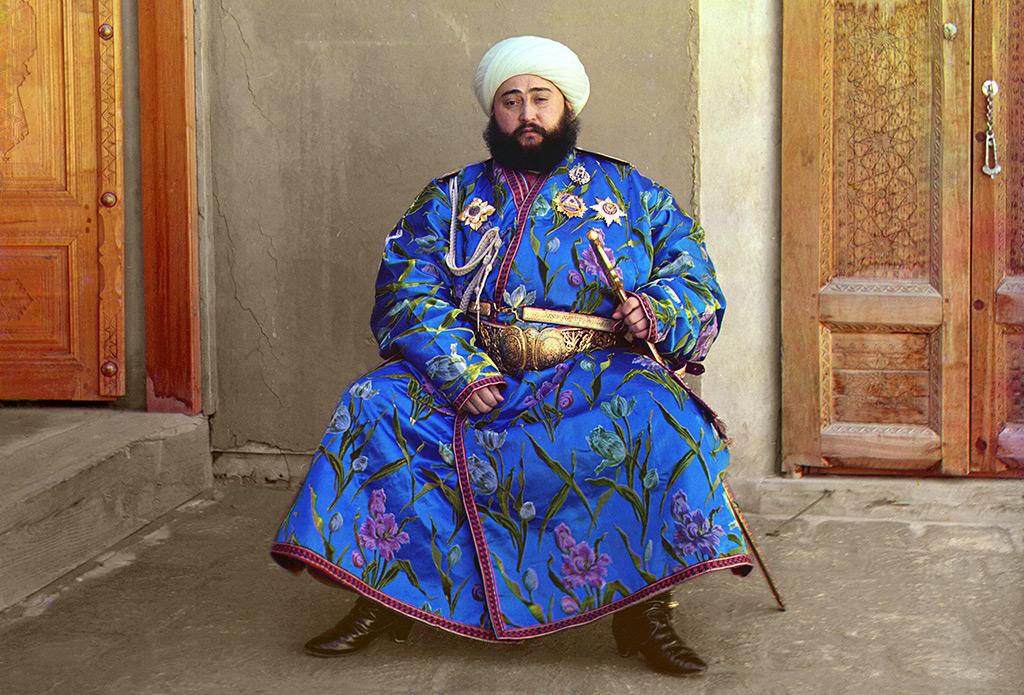 L'émir Alim Khan en 1911. Photo couleur de Prokoudine-Gorski.