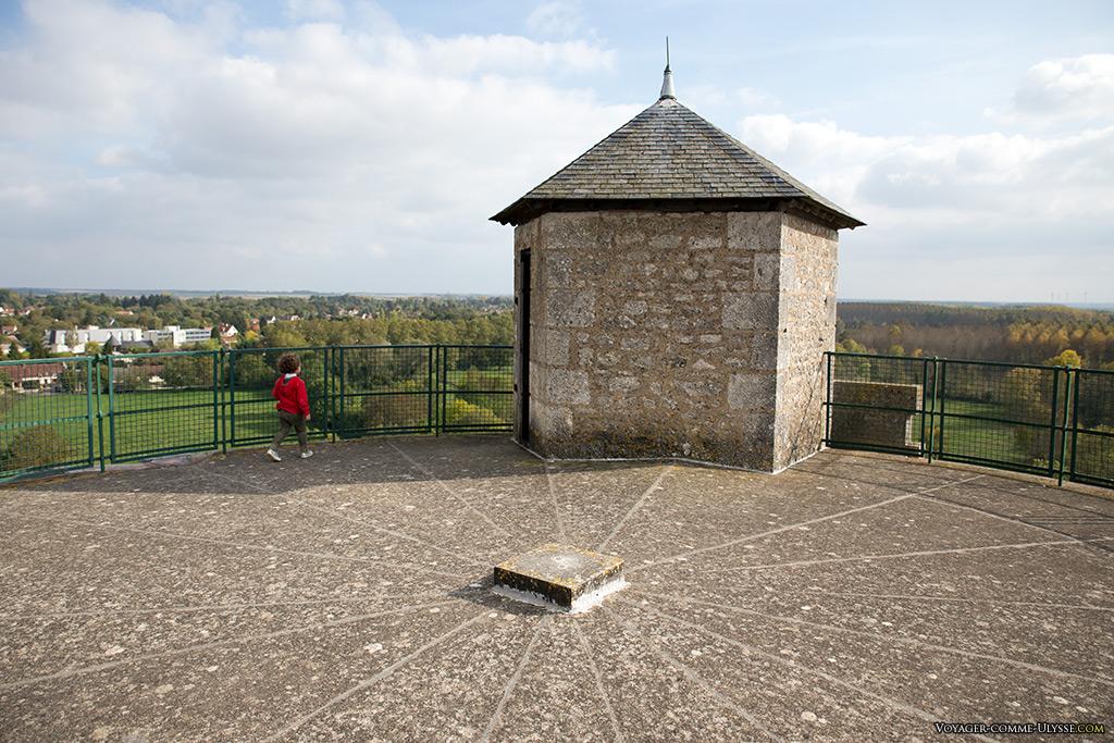 En haut du donjon. Autrefois, la tour était plus haute.