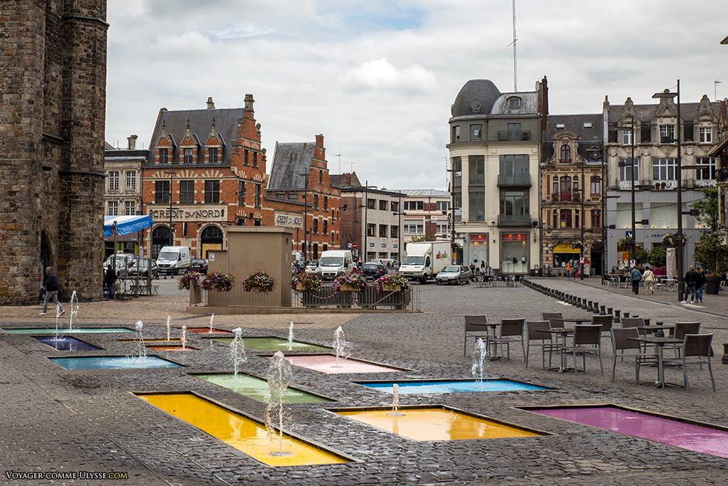Bassins colorés de Krijn de Koning