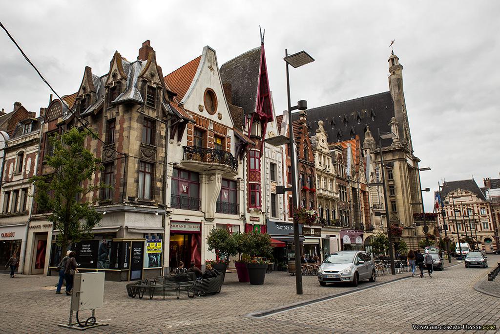Les nouvelles façades de la Grand Place.
