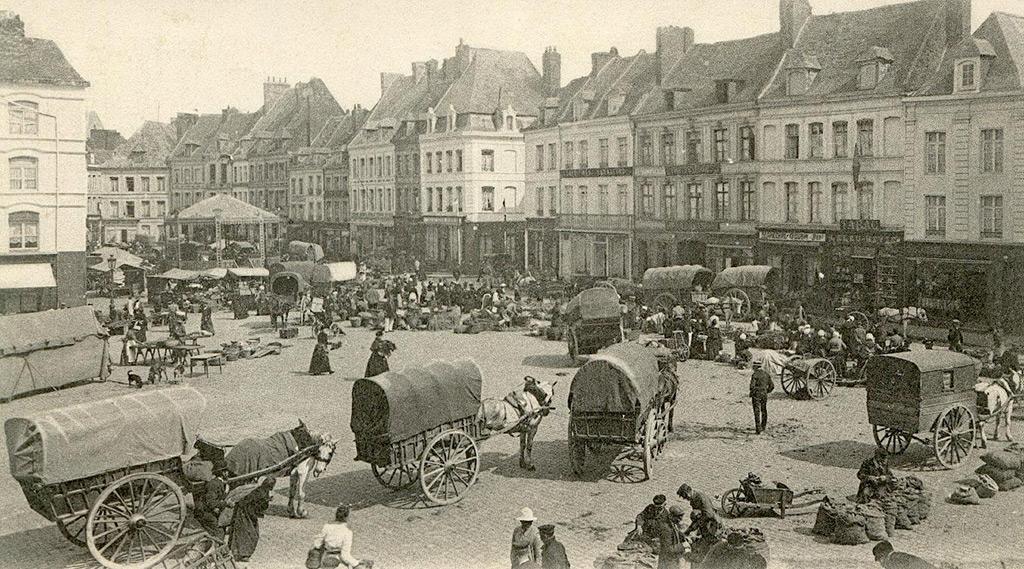 Le marché aux légumes, avant la Grande Guerre.