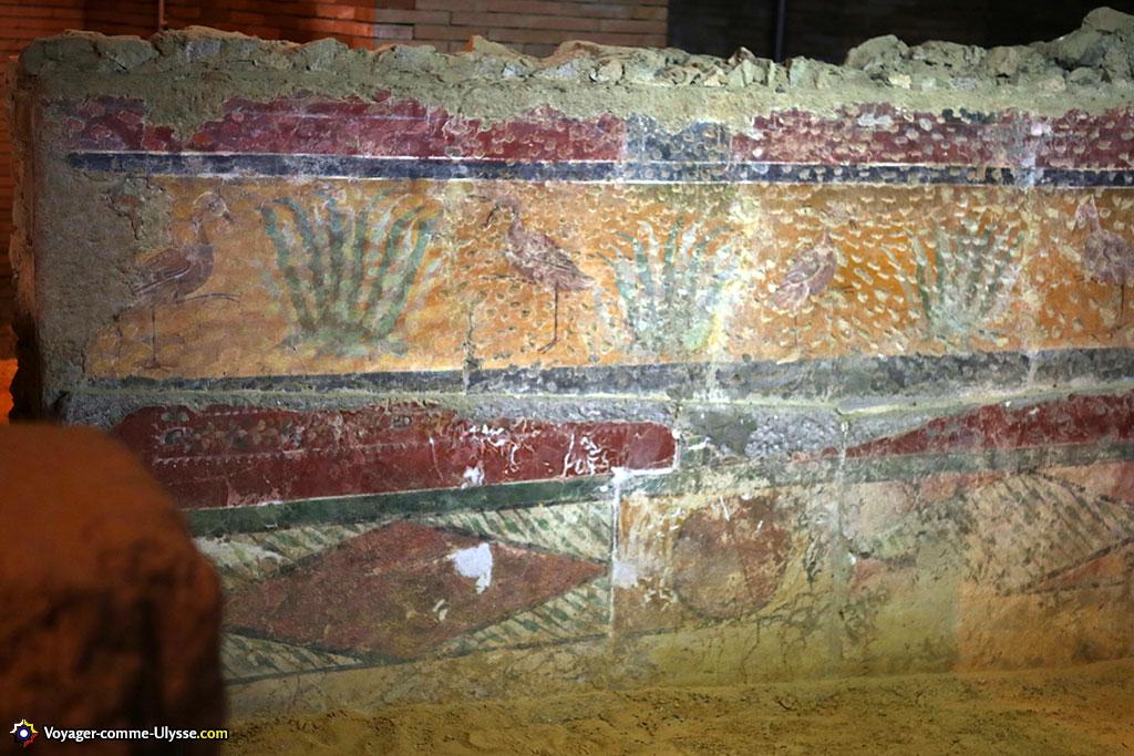 Peintures d'un mur romain