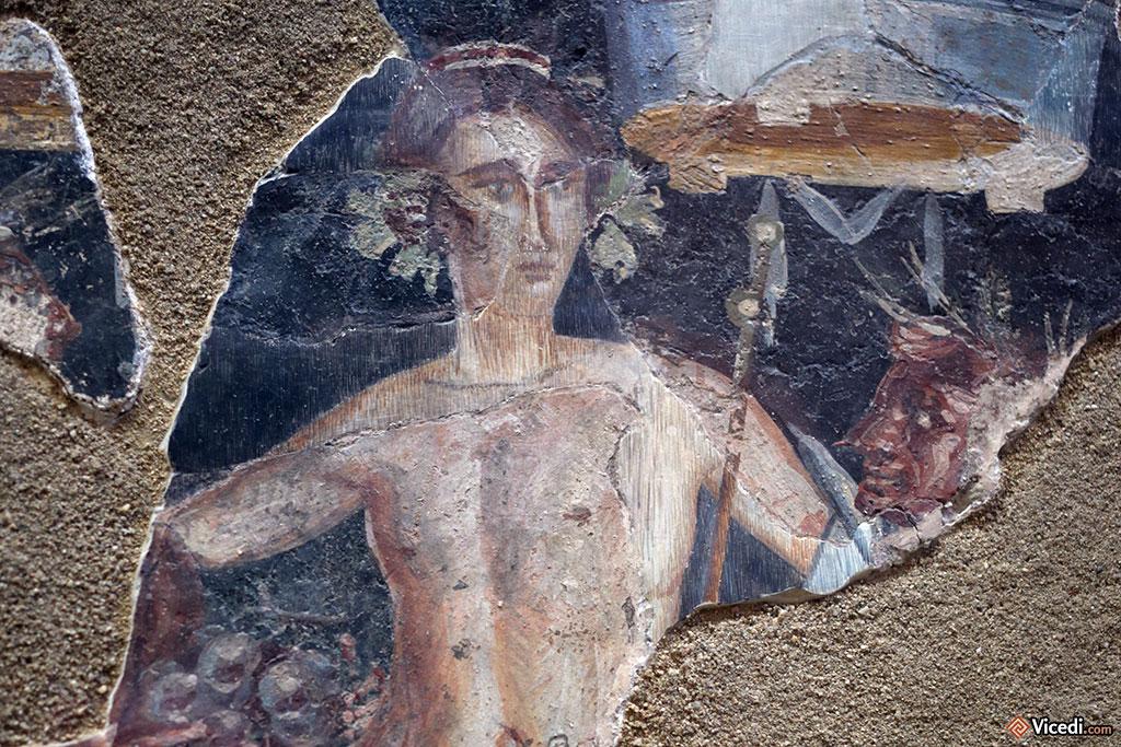 Peinture représentant Bacchus. Fin du Ier siècle.