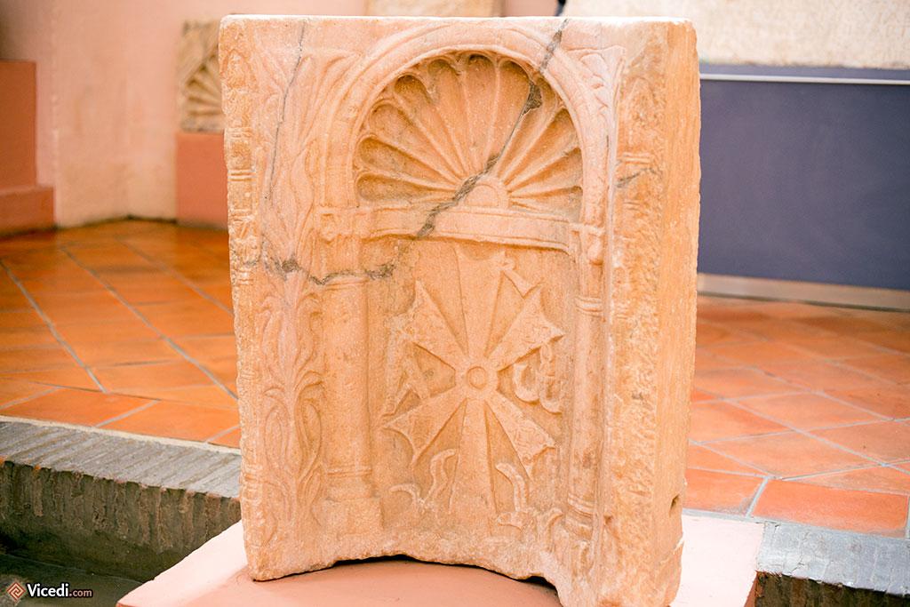 Une grande partie de ce qui est exposé provient de très anciennes églises wisigothiques, comme cette niche.