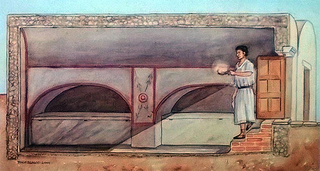 Dessin représentant le mausolée du IVème siècle.